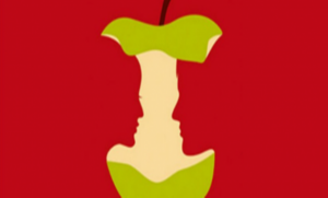 alma 300x181 - Az almát, a szerelmes párt, a nőt, vagy a férfit veszed észre először a képen? Ilyen most az életed!