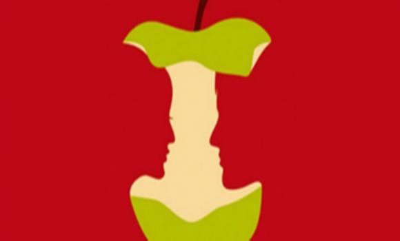 alma - Az almát, a szerelmes párt, a nőt, vagy a férfit veszed észre először a képen? Ilyen most az életed!