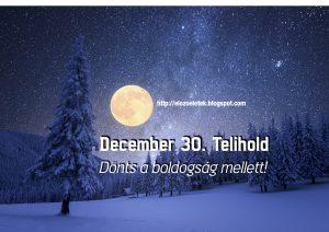Donts 300x212 - December 30. Telihold - Dönts a boldogság mellett!